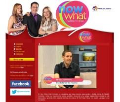 en la página principal de Now What TV, entrevista hablando de mi historia y el proyecto vía cocina