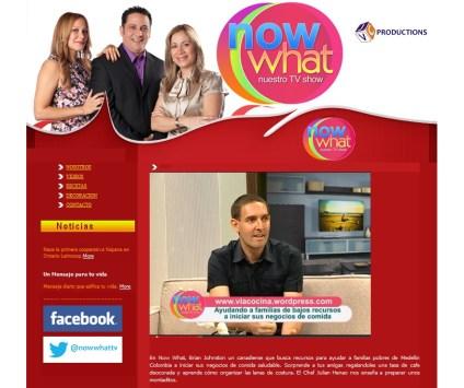 promocionando el proyecto en la tele, entrevista con Now What TV