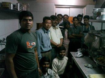 Cocineros de Blu Cheez en Punjab India