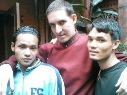 con cocineros en Nepal