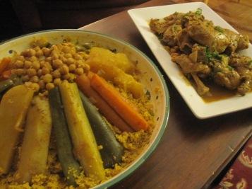 cuscús con pollo de Túnez