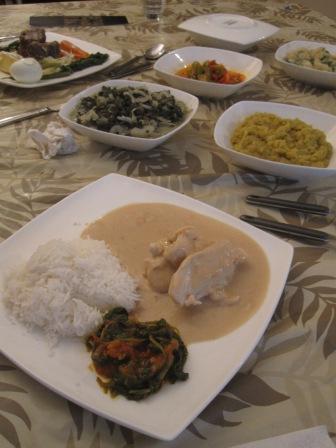 curry de leche de coco y maní