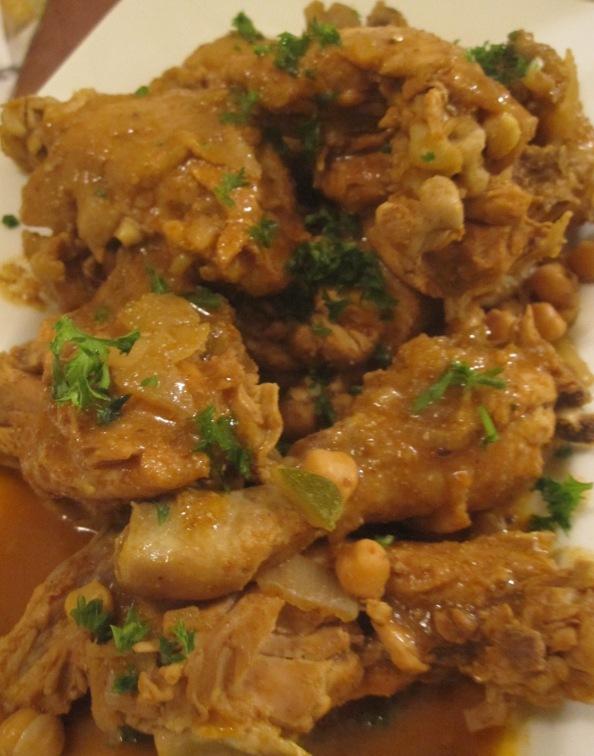 pollo para couscous tunecino