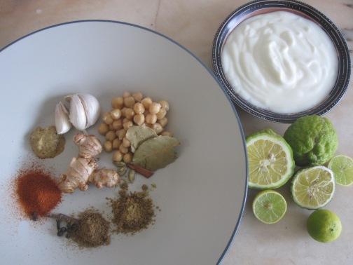 ingredientes para pollo tandoori de la india