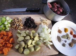 ingredientes para potjie kos en Namibia