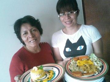 Mamá Peti y Susana en Perú