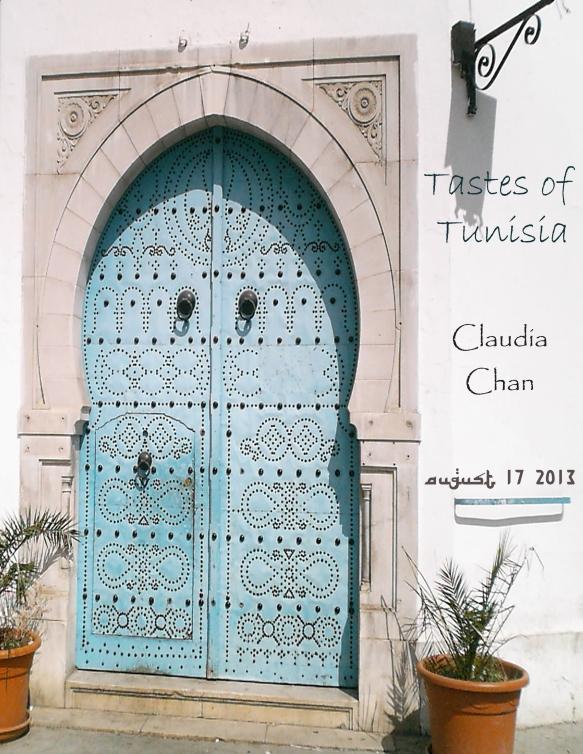 menú exterior para evento privado con comida tunecina