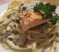 pasta con salmón