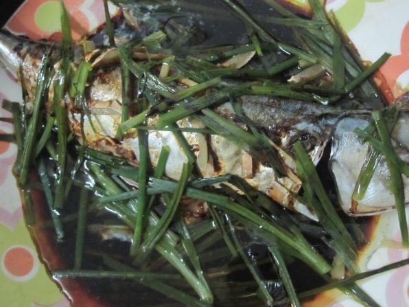 pescado al vapor chino