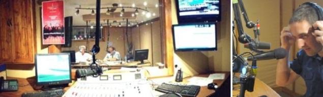 el estudio de radio voces latinas