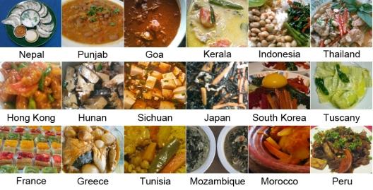 regiones donde aprendí a cocinar
