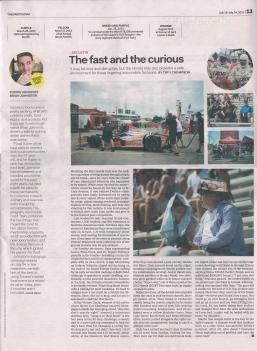 The Grid 18 de julio 2013 artículo publicado sobre Brian Johnston y vía cocina food train