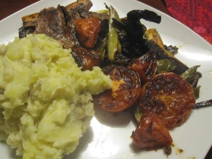 verduras a la plancha con carne