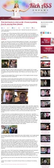 artículo en Kick Ass Dreams, de Patricia Tomasi