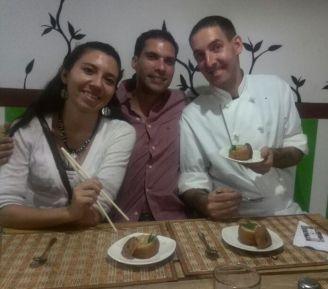 Con los invitados María Isabel y Bryan