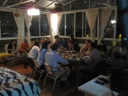Mozambican cuisine guests at International House