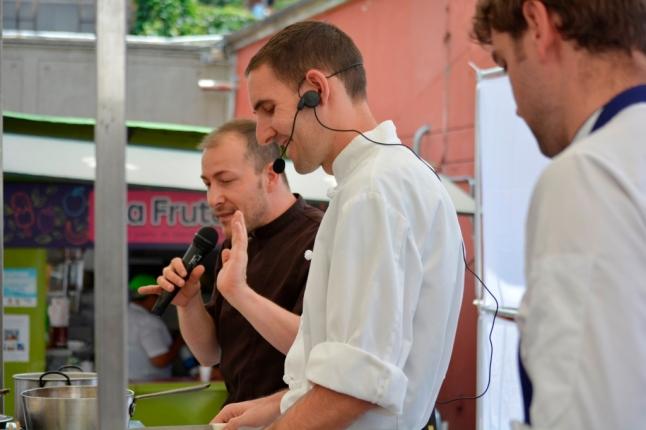 En plena preparación, desafío de chefs