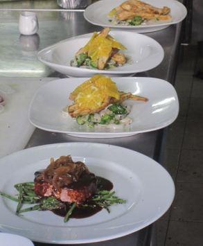 pescado y un plato inspirado por una receta mía