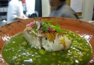 pescado en el restaurante Guzina Oaxaca